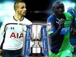 Tottenham vs Newcastle Capital One Cup LIVE: Follow the quarter-final action from White Hart Lane as it happens