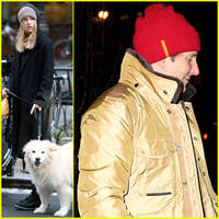 Bradley Cooper Performs in Front of Jennifer Lawrence While Suki Waterhouse Walks Her Pup